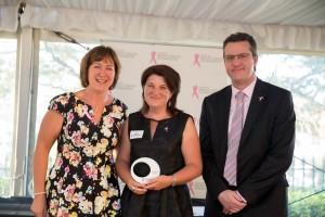 Jackie Coles, Acting CEO NBCF, Katie Biddlestone, SDA National Women's Officer and Bernie Smith, SDA NSW Branch Secretary